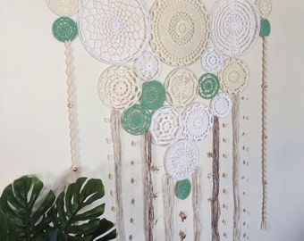 Crochet Dream Catcher Wall Hanging