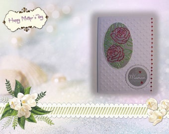 FM-2017-0002 - card mother - Bouquet of roses inset