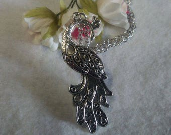 Peacock pendant and necklace