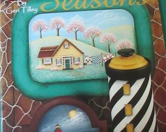 Folk Art décoratif livre de «Down East saisons» Geri Tilley 38 pages 1999 utilisés