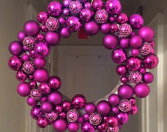 Purple Passion Christmas Holiday Wreath, Christmas Wreath for Door, Purple Christmas Wreath, Christmas Decoration, Unique Holiday Wreath