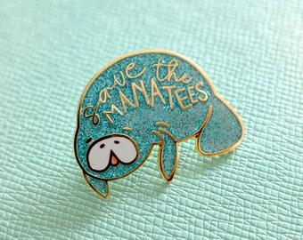 Save the Manatees - enamel pin