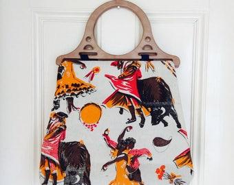 Flamenco print bag