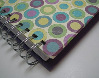 Blank Journal - Journal - Prayer Journal - Daily Journal - Lined Journal - Wire Bound Journal - Diary - Sketchbook - Notebook - Purple