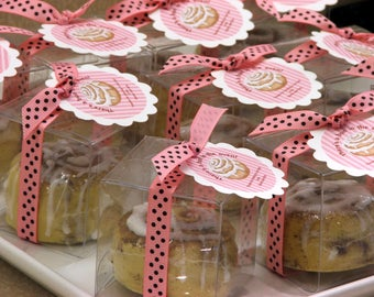 Set of 25 Bun in the Oven Cinnamon Bun Soap Baby Shower Party Favors