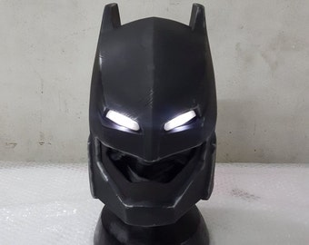 Batfleck Batman v Superman Dawn of Justice LED Helmet Prop Replica 1:1 Full Scale Head Cosplay Costume Accessories Handmade Quality.