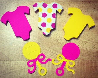 Onesies & Rattles Combination Pack (Assortment for Girls)