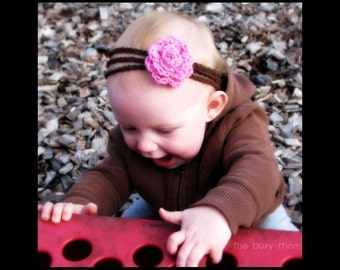 CROCHET PATTERN - Multi-Strand Rose Headband - Newborn to Adult - Very Easy Pattern - Great for Beginners - PDF 304 - Sell what you Make
