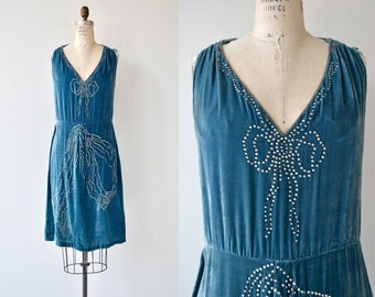 Bonjour Adieu dress | vintage 1920s dress | silk velvet 20s dress