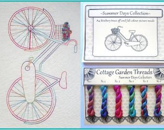 Cottage Garden Threads - Summer Days - Stitchery Kit