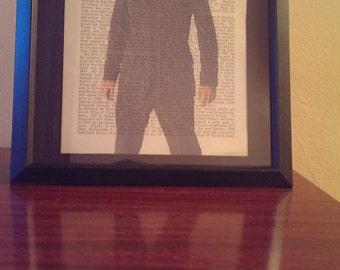 Doctor Who- David Tennant Antique Book Art Print
