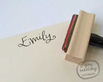 Handschriftliche Namensstempel: Ihrer Wahl selbstfärbender oder rote Gummi