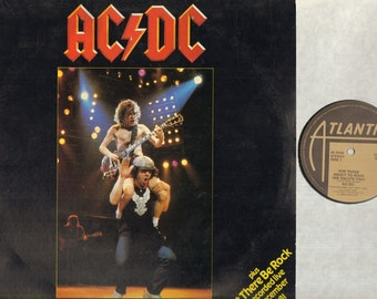 "AC/DC For Those About To Rock 12"" Vinyl Record Single Ps, B/W Let There Be Rock-Full Length Version-Live, K 11721"