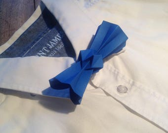blue origami bowtie