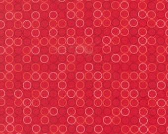 Spot On Red by Robert Kaufman, Red Polka Dots, Polka Dots Fabric, Robert Kaufman