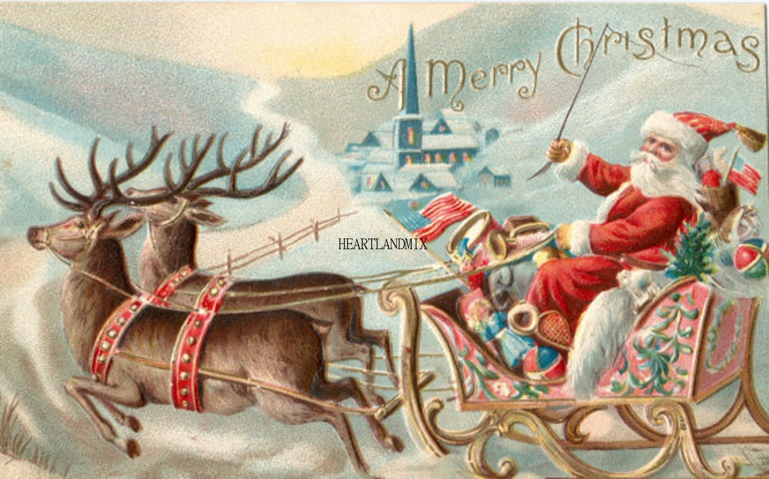 zoom - Christmas Santa Reindeer