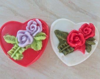 Lavender rose garden heart wax melts!