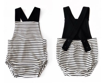 Striped sailor romper
