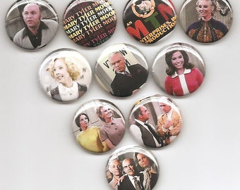 Mary Tyler Moore Show Classic Set of 10 Pins Button Badge Pinback