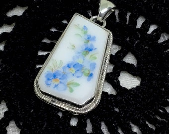 Handcrafted Broken China Pendant