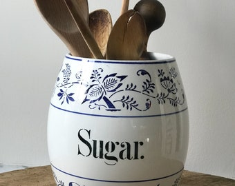 Germany ~ Blue Onion Pattern ~ Sugar Canister