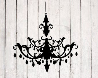 Chandelier SVG | Chandelier Cut File | Silhouette Files | Cricut Files | SVG Cut Files | PNG Files