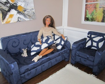 Designer Quality Blue / White BARBIE Set of 5. The best and beautiful gift for your Doll !!!