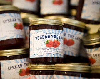 Personalized Jam or Jelly Labels - Spread the Love - Rectangle / DIGITAL FILE