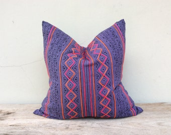 """Tribal Tradition Design Ethnic Style Hand Print Cushion Chic Pillow Cover 20"""" x 20"""" Same fabric front and reverse"""