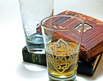 1 whisky verre - diamant celtique