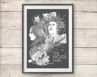 The Wicker Man Print - Horror Movie Poster