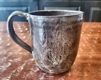 Handmade pottery mug, ceramic mug, coffee mug, tea cup, drinkware, stoneware, unique gift, 2 CUPS, FREE SHIPPING