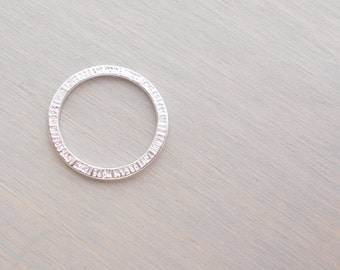 10 Linking Rings, Ring Charm, Silver Inspirational Charm