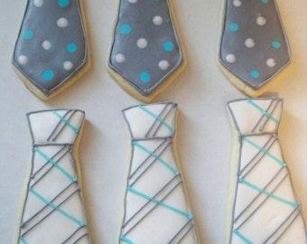 Neck Tie Sugar Cookies