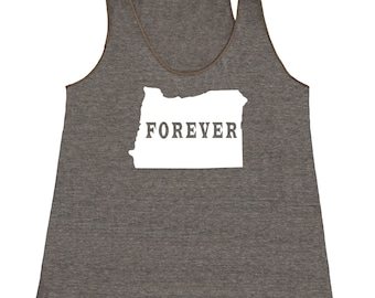 Oregon Forever Tank Top. Women's Tri Blend Racerback Tank Top SEEMBO