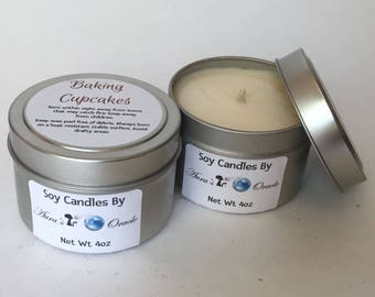 Baking Cupcakes 4oz Soy Wax Candle
