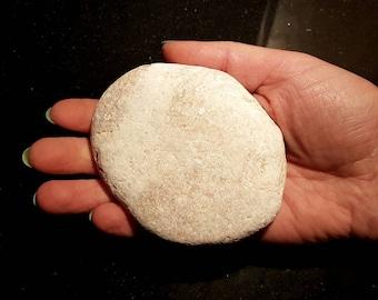 Unusual Pinkish Quartz Rock, Beach Stone with Quartz, Pink Stone, Unusual Irish Pebble, Round Flat Rock, Irish Beach Stone, Aquarium Rock