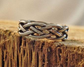 Sterling Silver Cast Celtic Ring Multiple sizes
