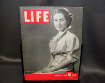 Vintage Life Magazine February 14, 1938 The Queen Of Egypt