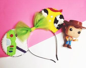 Toy Story Buzz l'éclair et Woody Costume sur le thème Minnie Mouse Ears (Mickey Mouse)