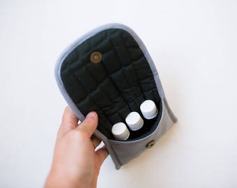 Gray Essential Oil Bag
