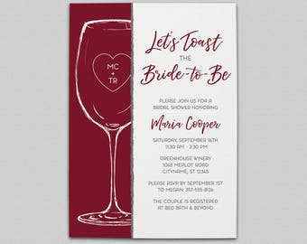 Let's Toast Bridal Shower Invitation