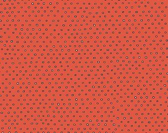INK & ARROW Pixie Dots 1649 24299 O Tomato Yardage