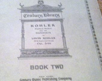 Antique Piano Music Book - Kohler