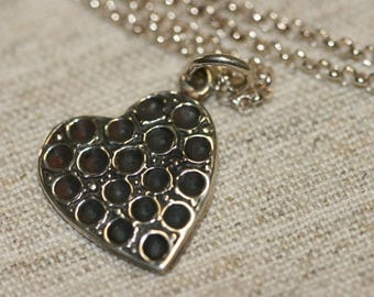 Heart Necklace, Silver Heart Nacklace , 925 Sterling Heart  Pendant, Silver Jewelry, Handmade Heart  Pendant, Romantic Jewelry,