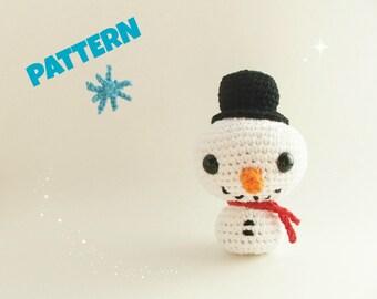 Crochet Snowman Pattern / Christmas Pattern / Christmas Kids Patterns / Kids Toys / Children Pattern / Snowman Pattern / Christmas Gift Idea