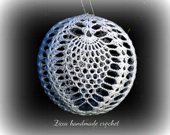 Crochet christmas pineapple ball ornament pdf pattern+ symbol diagram