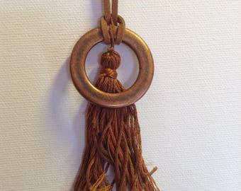 Brown/copper autumn necklace