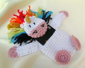 Crochet Unicorn Gift Card Holder ~ Amigurumi Unicorn Crochet Mini Pouch ~ Rainbow Unicorn Birthday Gift Card ~ Unicorn Gift