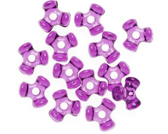 1000 - 11MM Dark Amethyst Tri-Beads - a must have for your holiday craft/jewelry making
